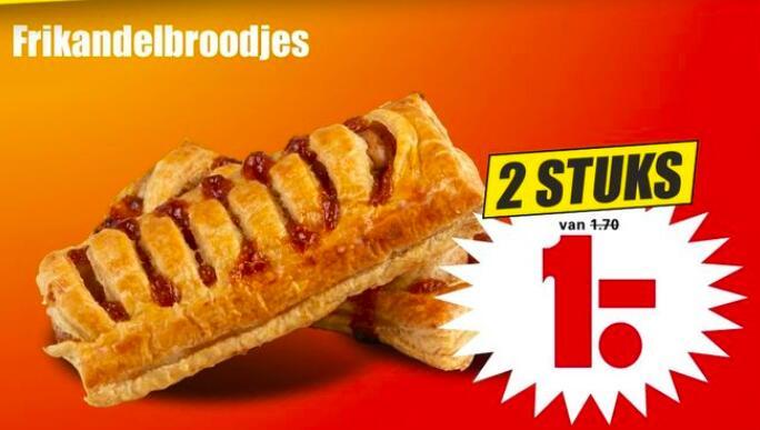 2 Frikandelbroodjes voor €1,- @Dirk