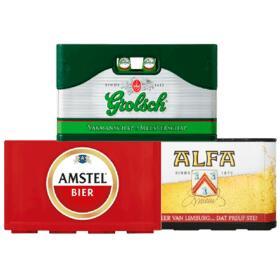 Kratje Grolsch, Amstel of Alfa Pils voor €9 @ Plus