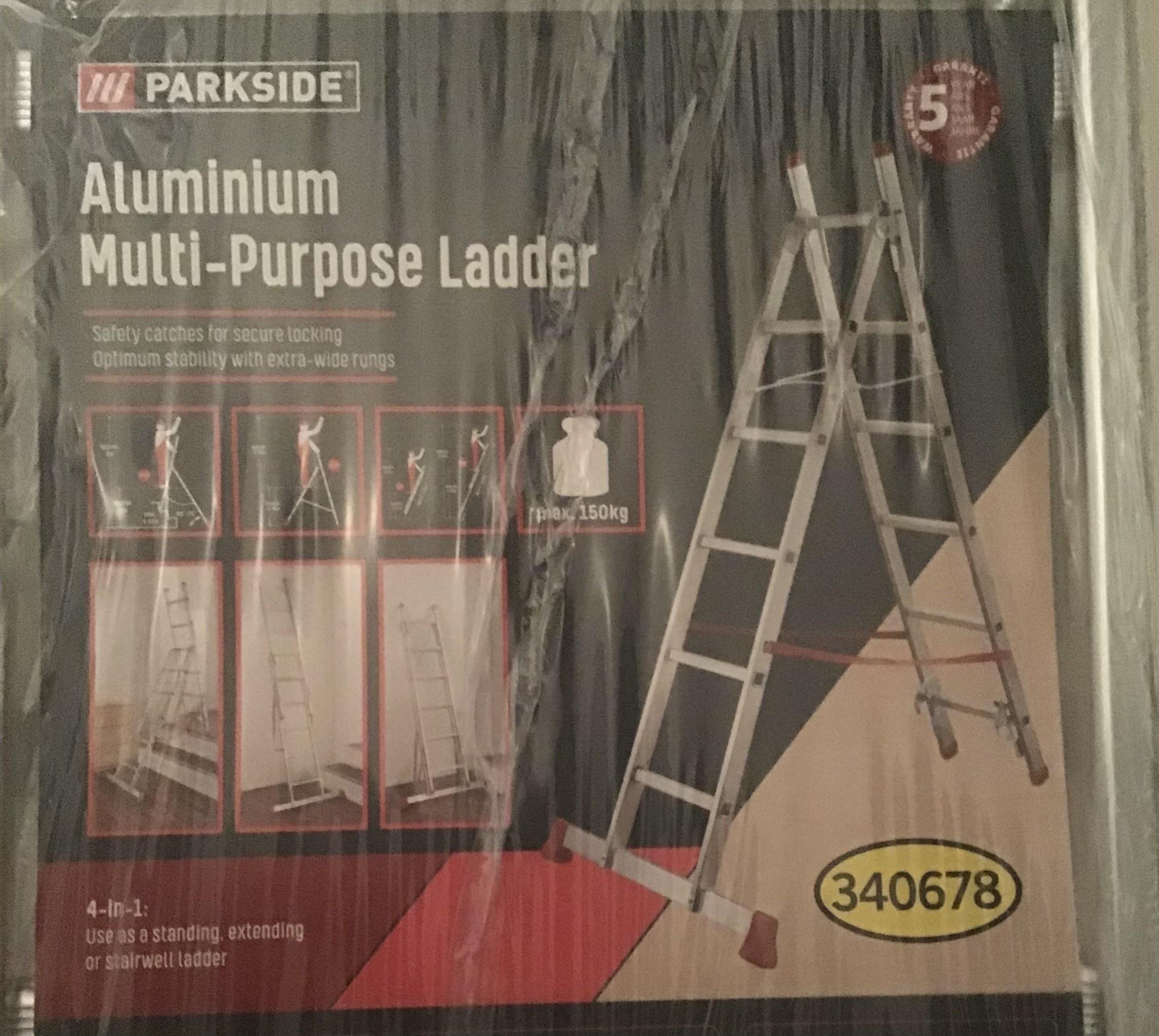 LIDL Parkside Aluminium Multi-Purpose ladder [Lokaal? Gouda]
