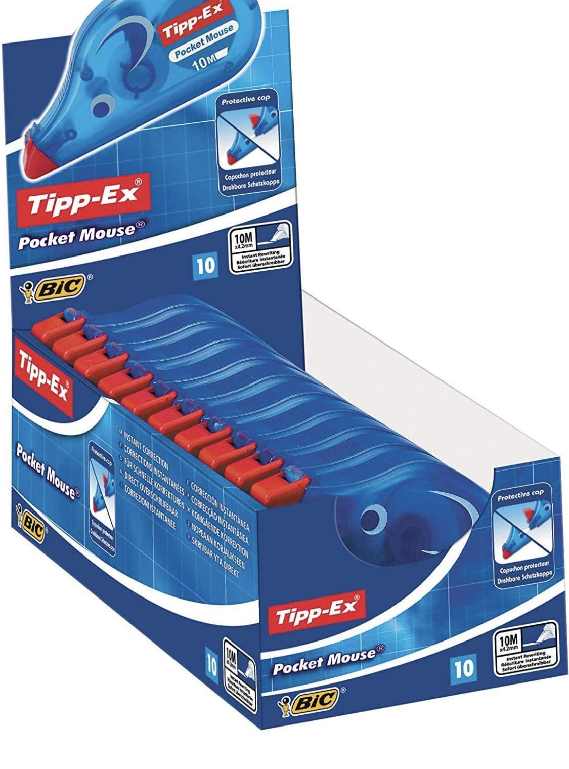 10x Tipp-Ex Pocket Mouse Correctieroller met Beschermkap