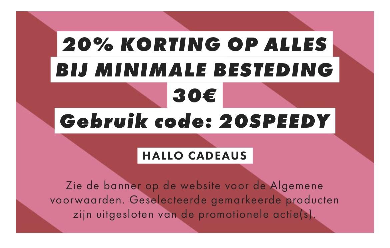 20% korting op alles v.a. €30 @ASOS