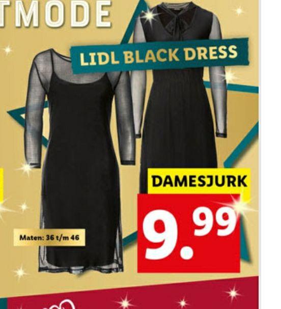 Lidl mode - zwarte jurken (maten 36 t/m 46)