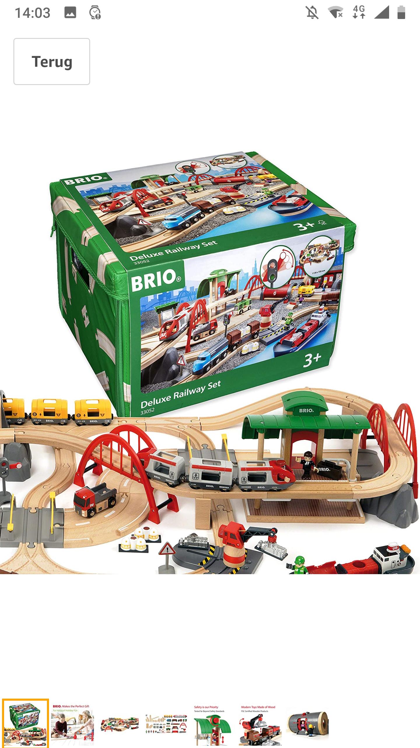 BRIO Straten & Rails Treinset Deluxe, 33052