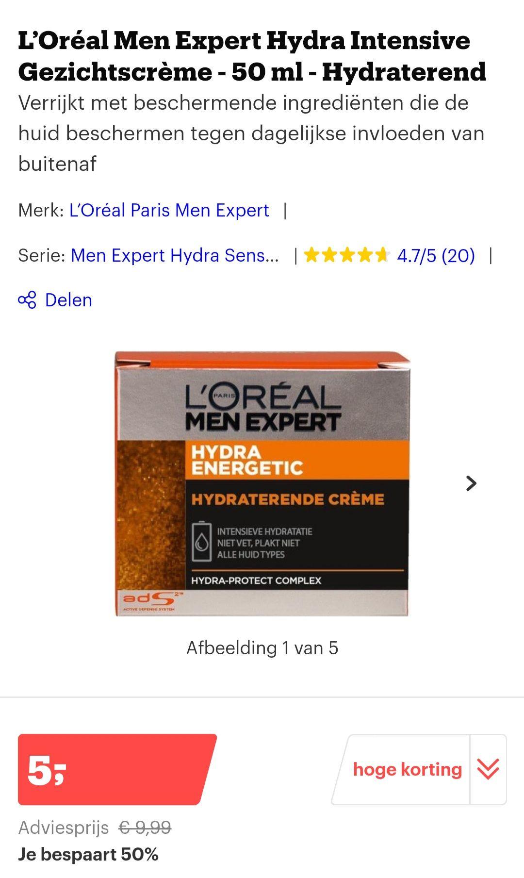 [select] L'Oréal Men Expert Hydra Intensive Gezichtscrème
