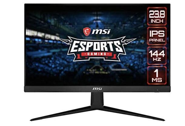 "MSI Optix G241 24"" FullHD 144Hz Gaming Monitor IPS Panel 16:9 Glans 250nits 1ms responstijd"