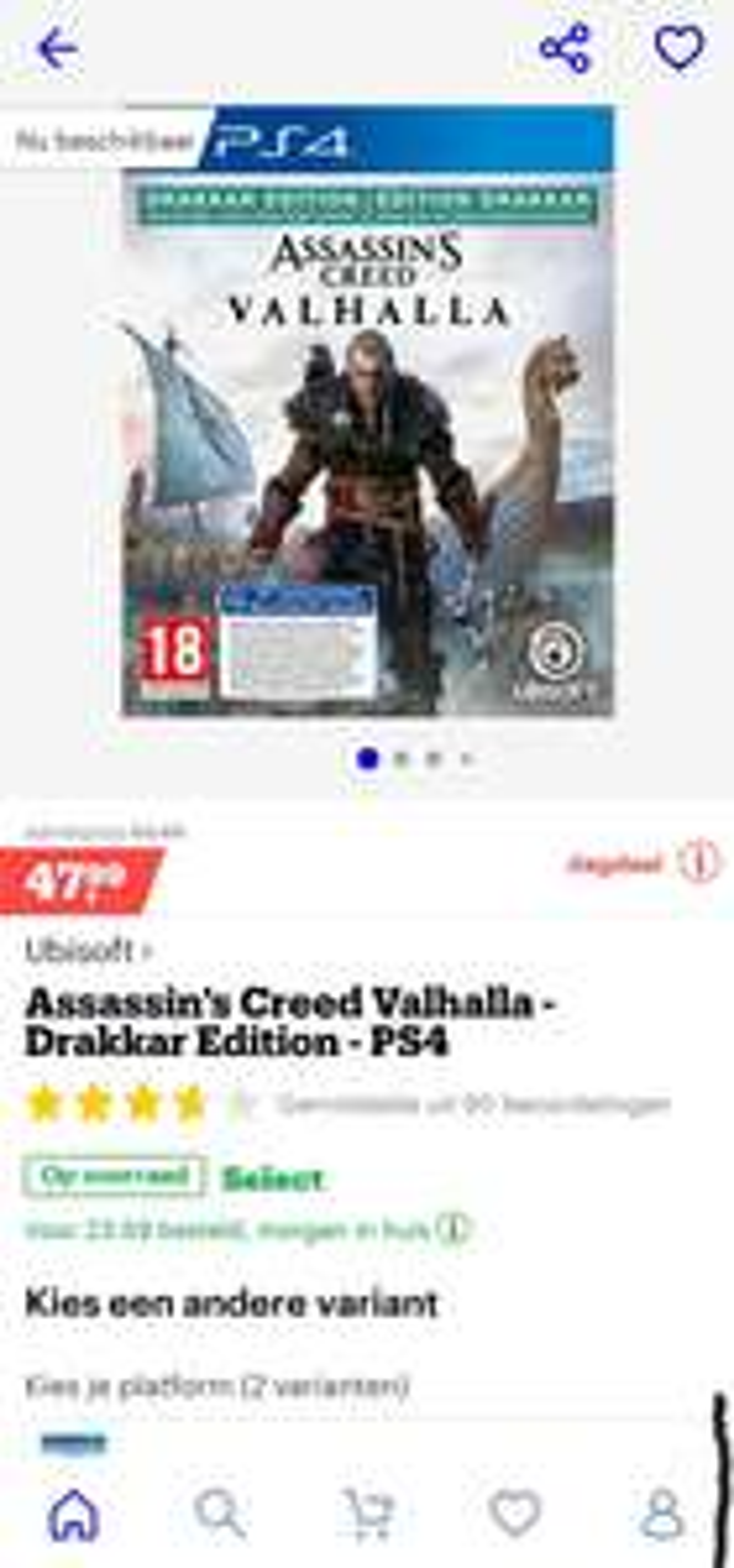 Assassin's Creed Valhalla - Drakkar Edition - PS4/Xbox @Bol.com