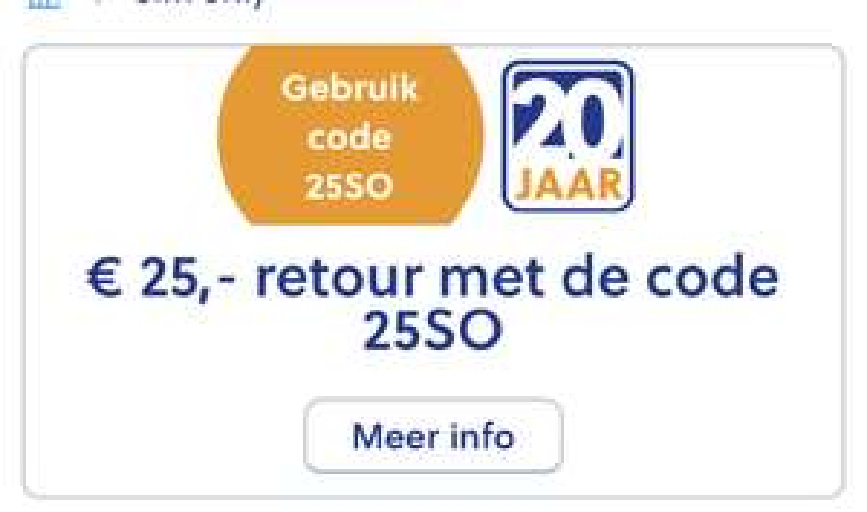 €25 retour bij 1- of 2- jarige Sim only @mobiel.nl