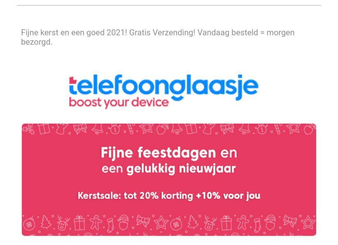Telefoonglaasje.nl tot 30 % korting: 10% extra korting + klein cadeautje met deze code