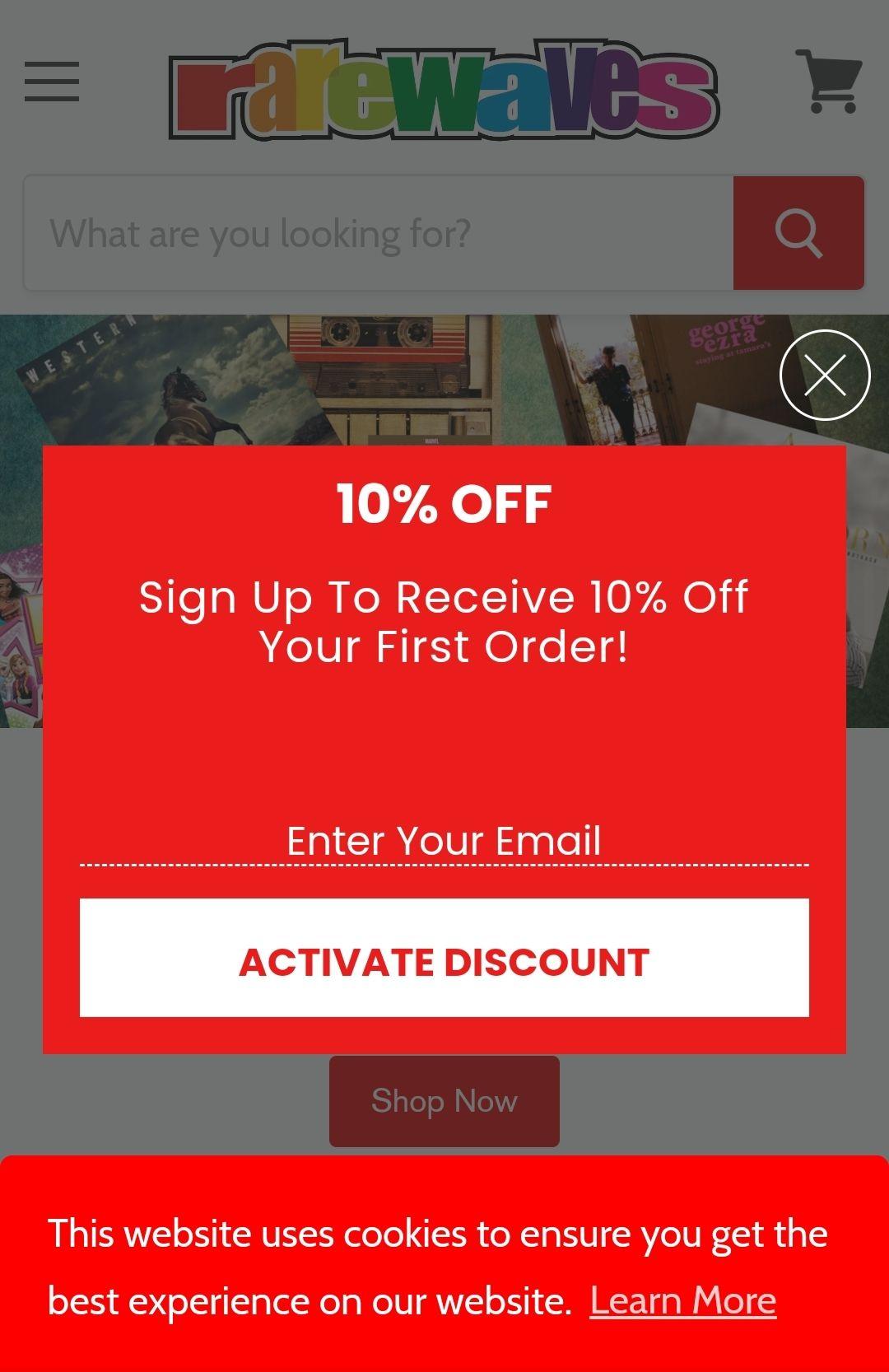 10% Korting op je eerste bestelling bij Rarewaves (Games, Muziek etc) via nieuwsbrief