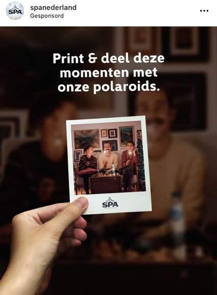 Cadeautje van SPA: 10 gratis Polaroids laten afdrukken