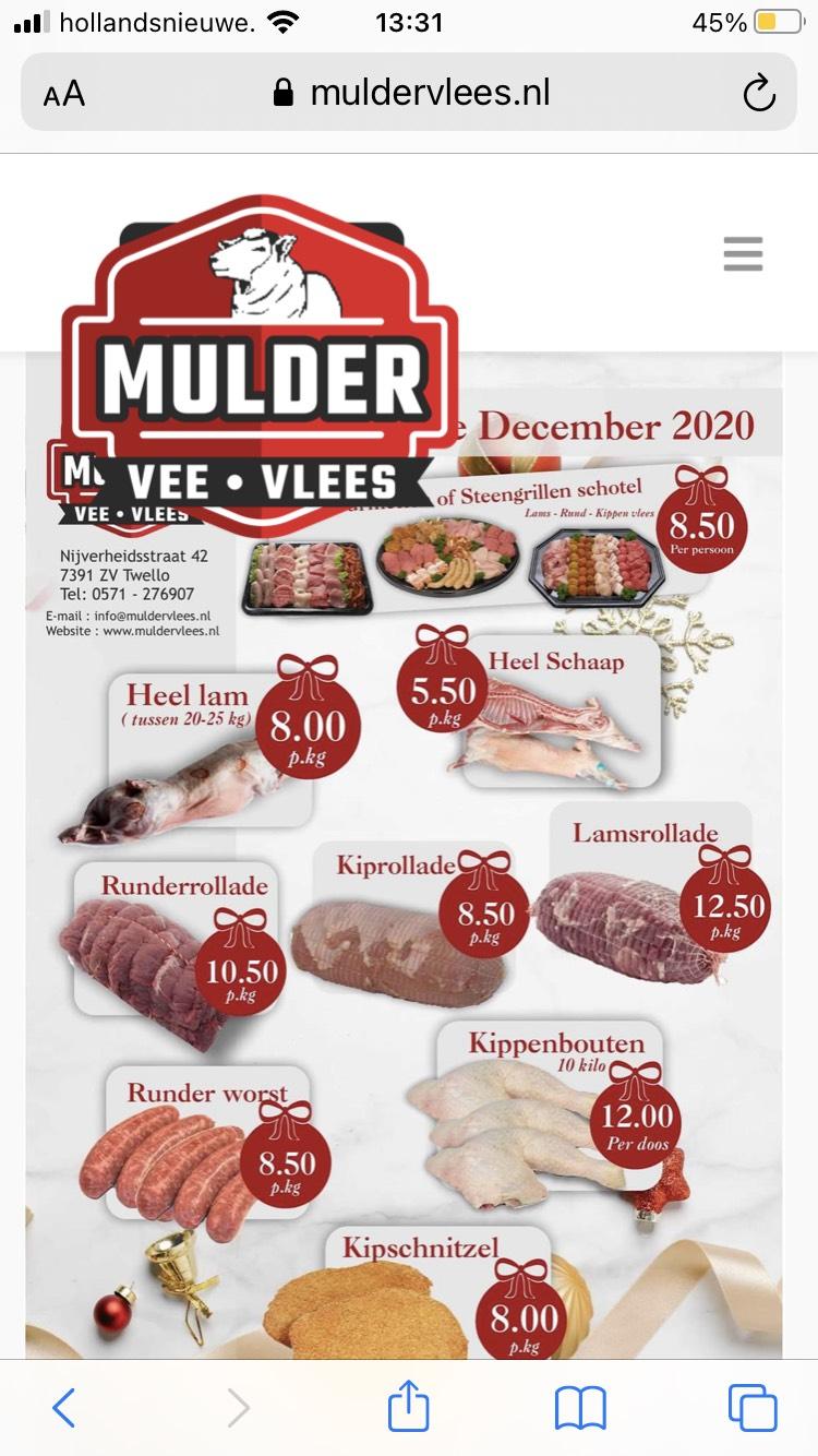 Diverse soorten vlees voor een leuke prijs lokaal omgeving Twello/Deventer