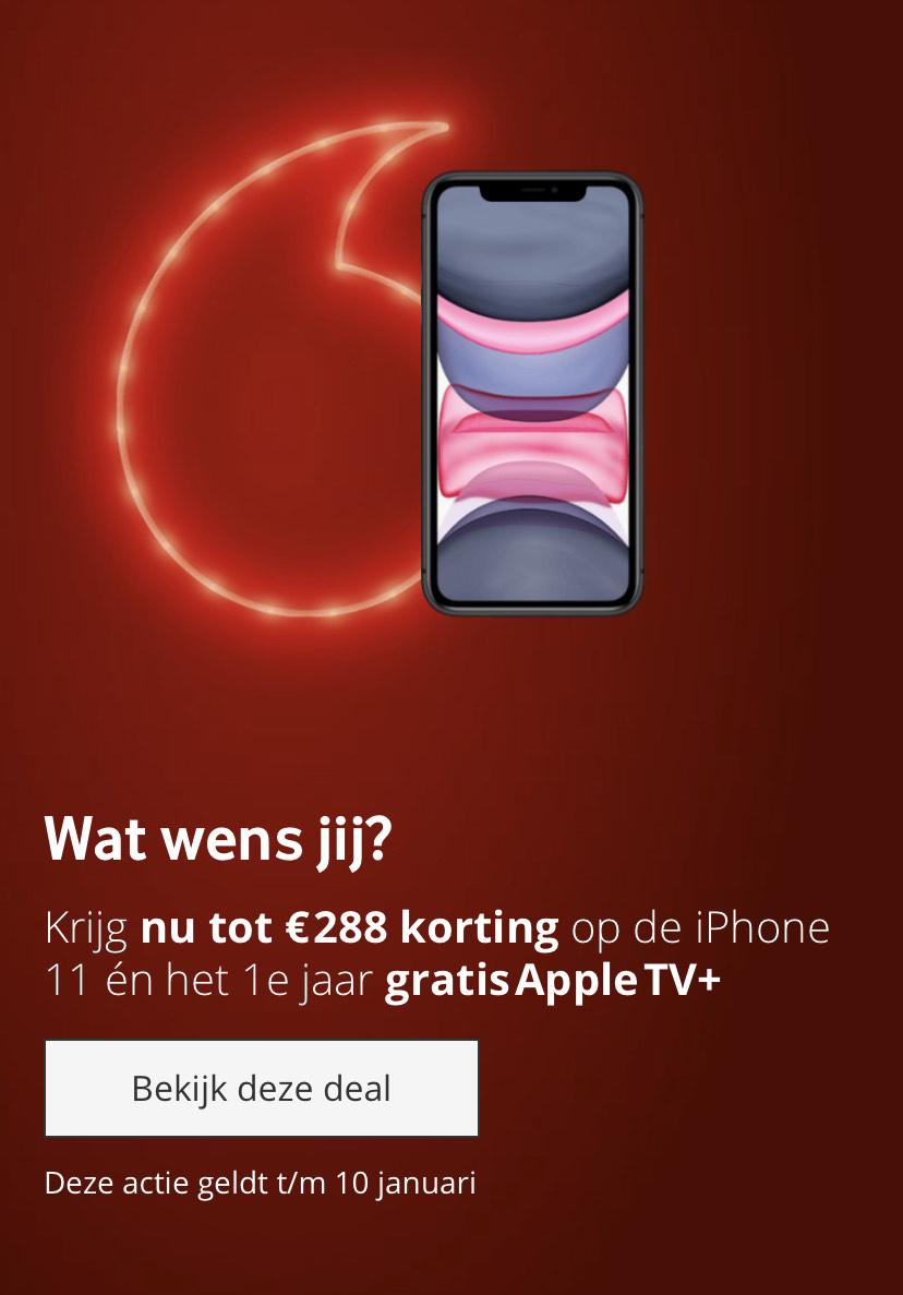 Iphone 11 korting bij VF Red Unlimited inc 1 jaar Apple tv+