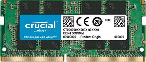 Crucial 32GB single ram (DDR4, 2666 MT/s, PC4-21300, SODIMM) CT32G4SFD8266