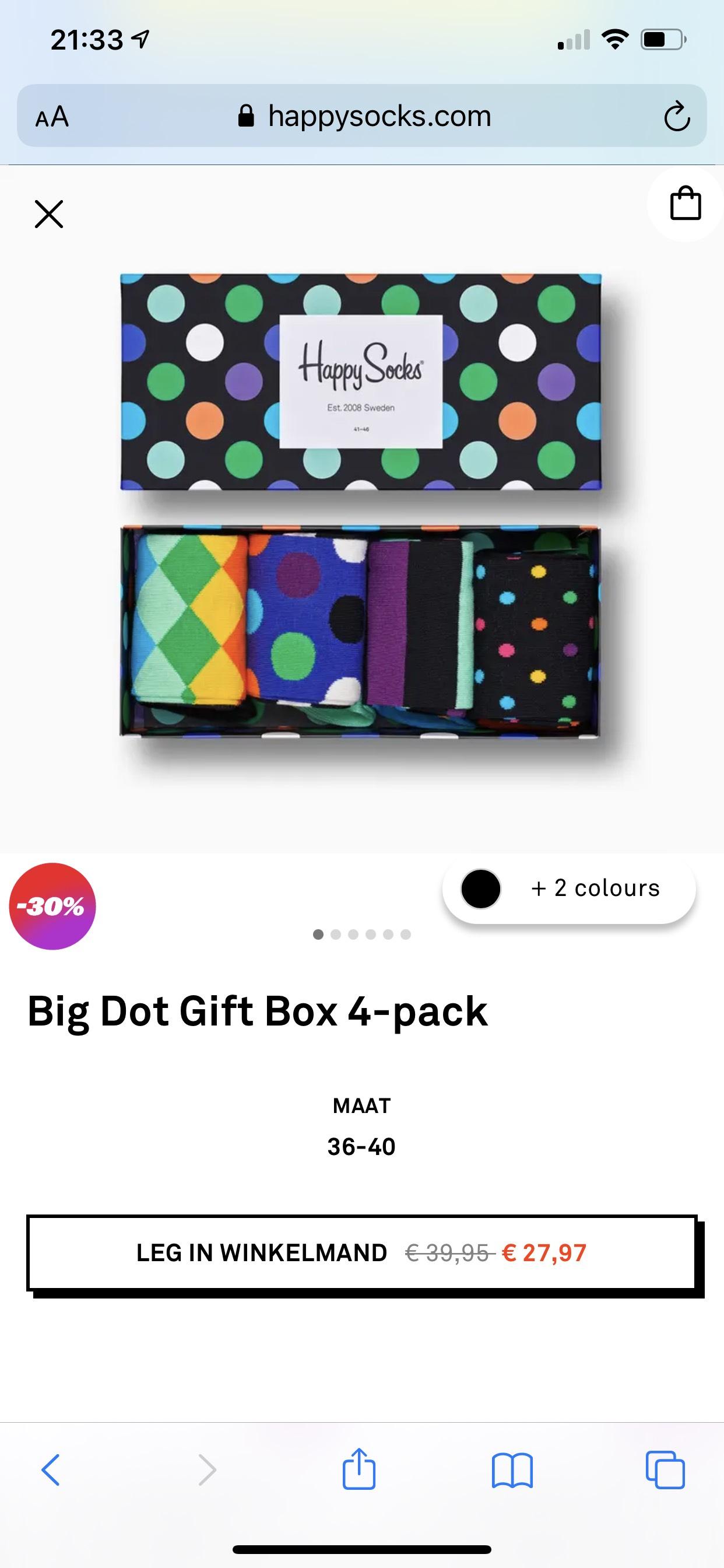 Happy socks Gift Box (4 paar)