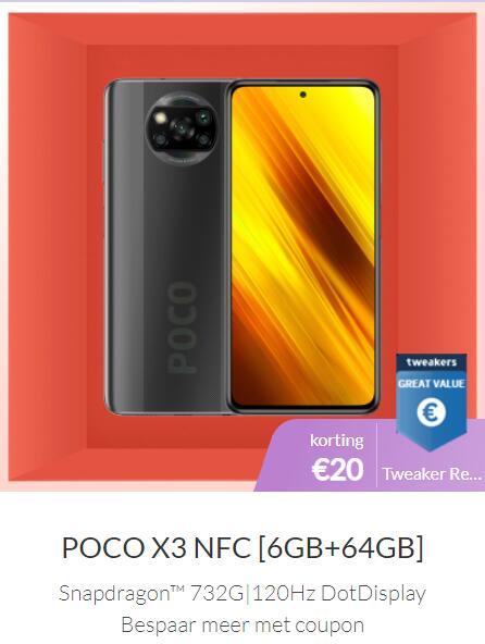 POCO X3 NFC [6GB+64GB] @ Xiaomi NL (+9,99 Mi Band 5)