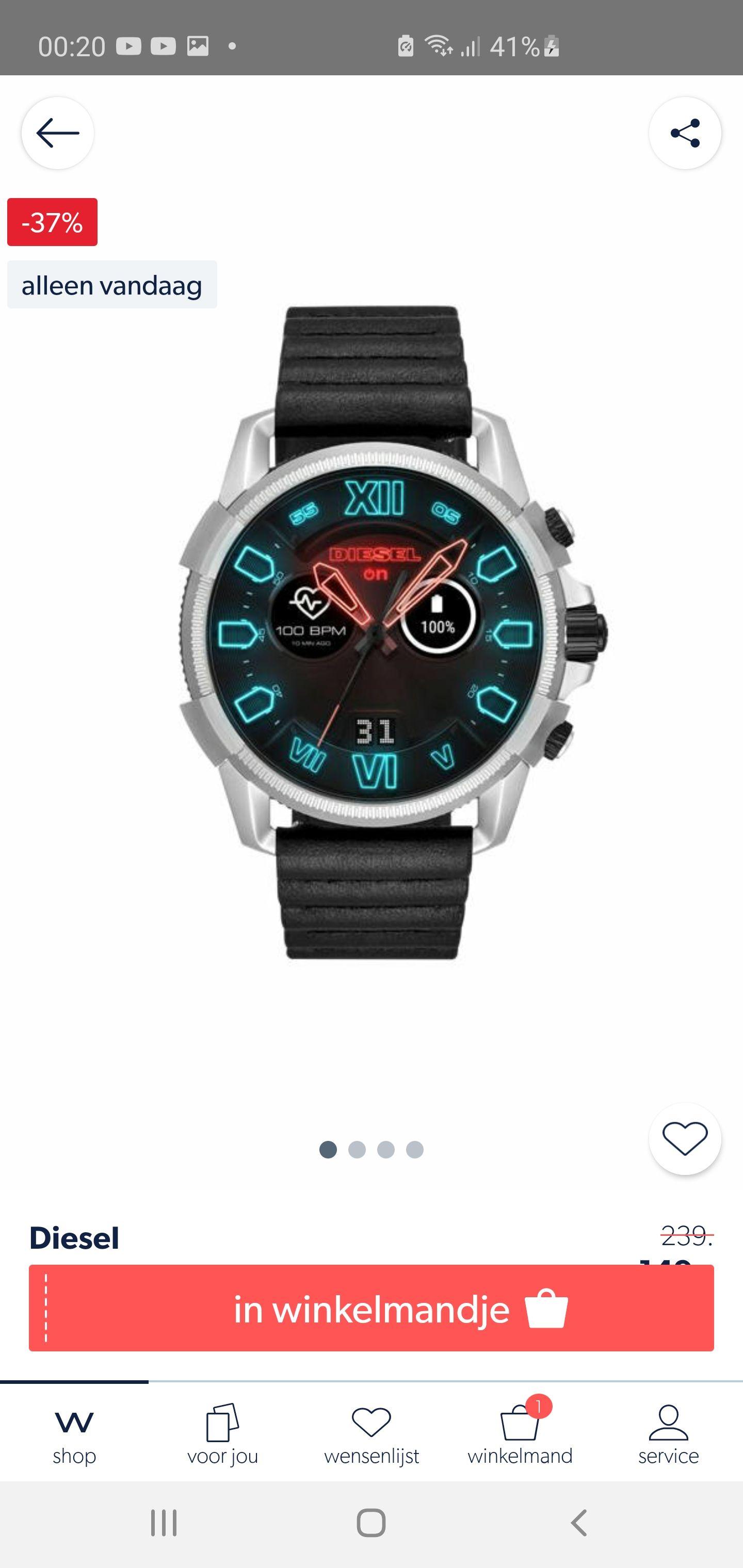 Tot 50% korting smartwatches en horloges via wehkamp app