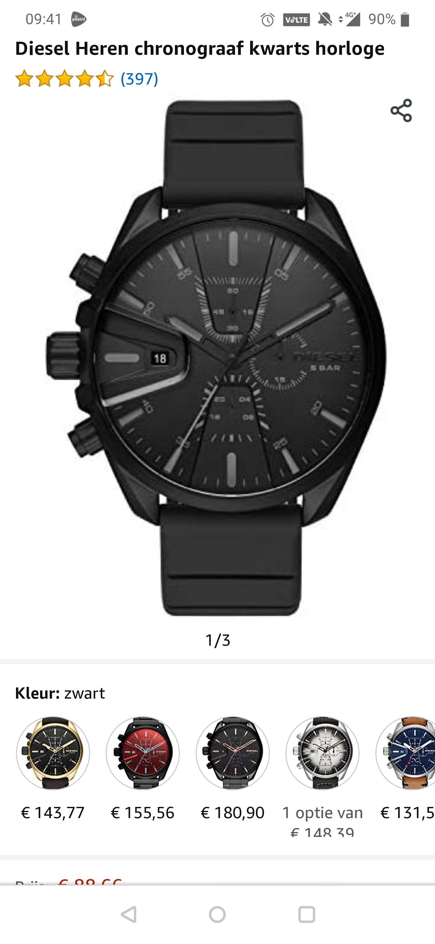 Diesel chronograaf horloge heren