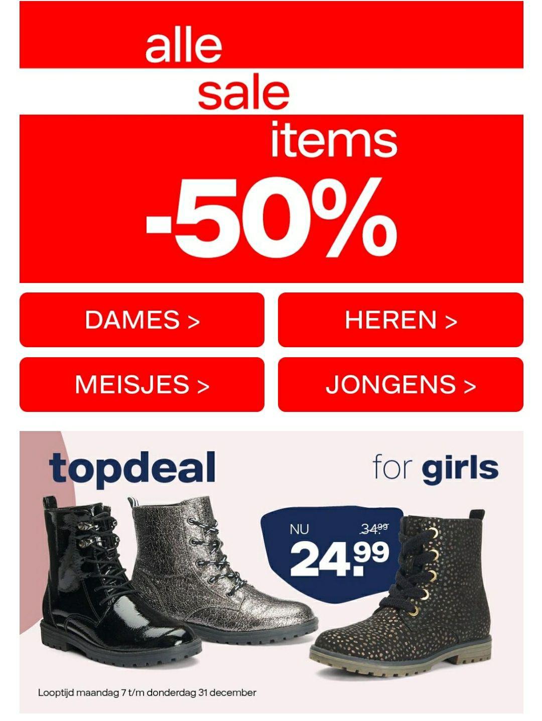 50% korting op SALE + gratis verzending VAN HAREN