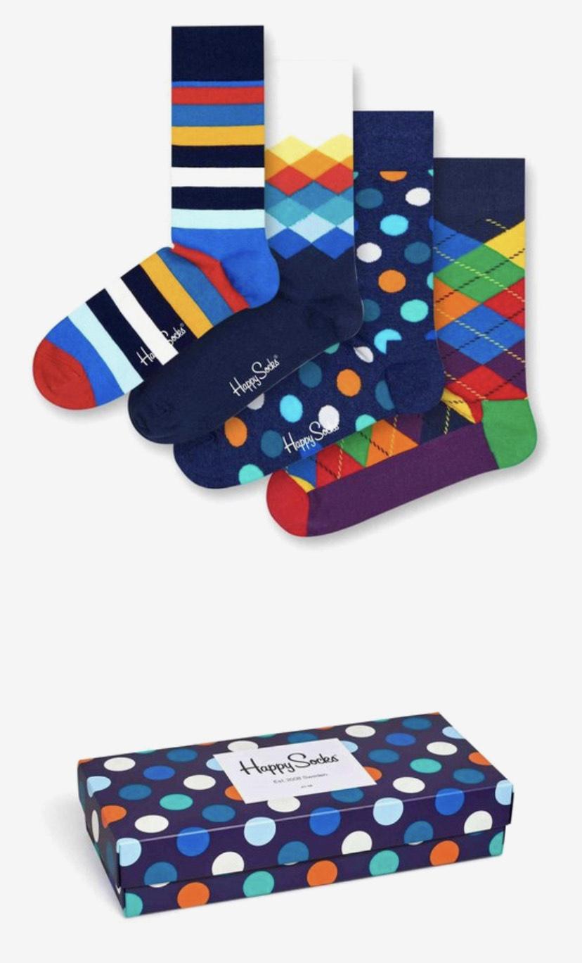 Happy Socks big dot giftbox 4-pack maat 36-40