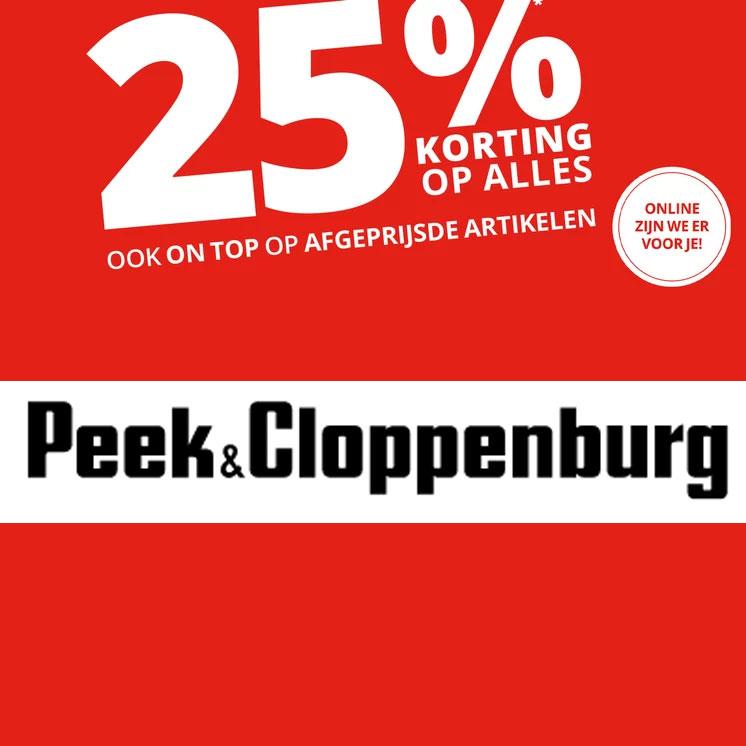 25% Korting op alles - ook sale met tot 75% korting