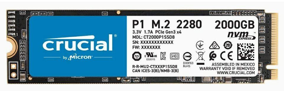 Crucial P1 2TB M.2 NVMe