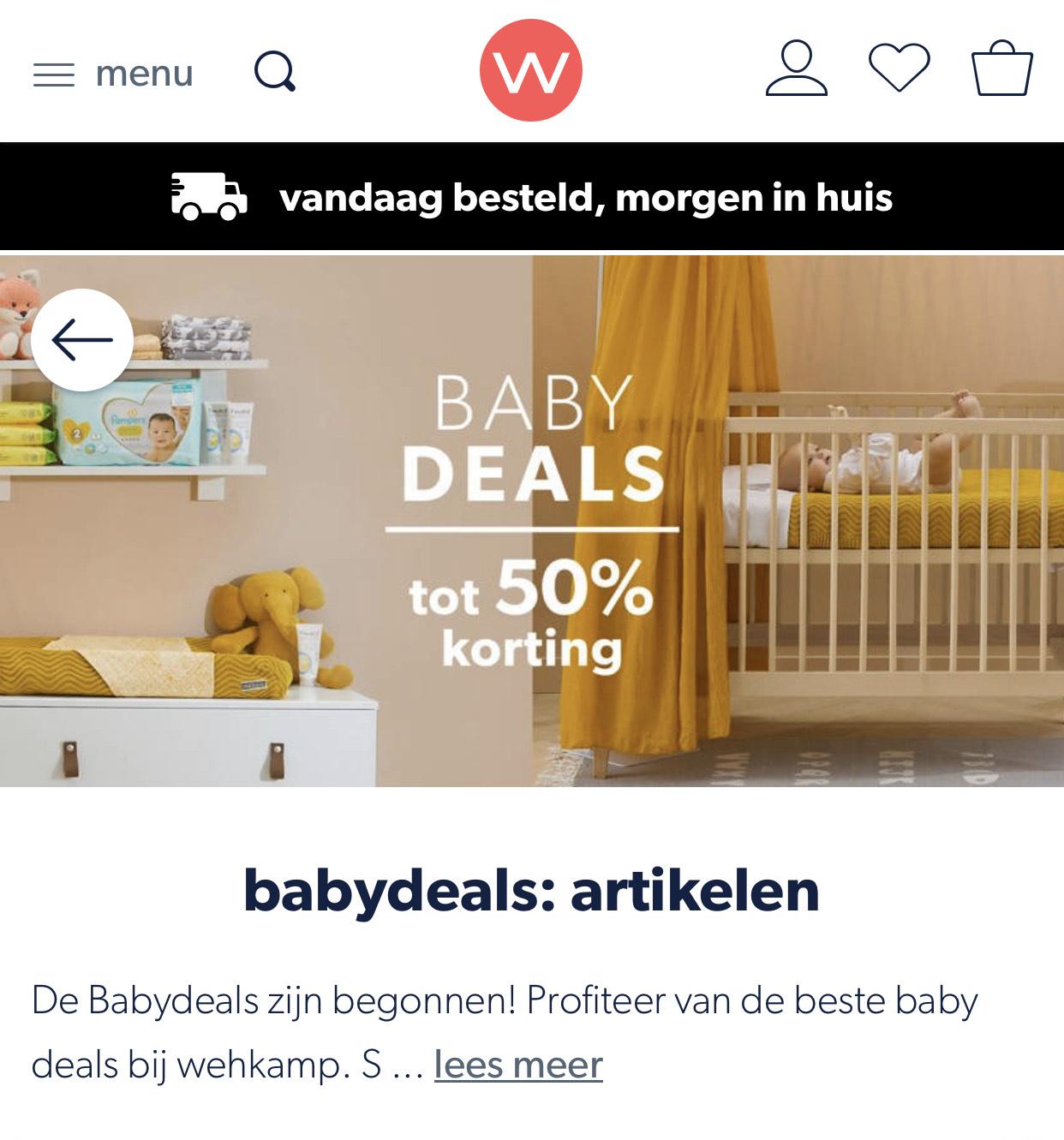 Babydeals tot 50% korting