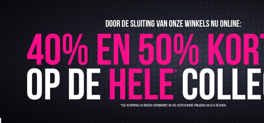 40% tot 50% korting op de gehele collectie op shoetimeonline (vanwegen de winkelsluiting.