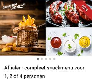 (LOKAAL) Snackmenu voor 1,2 of 4 personen in Asten