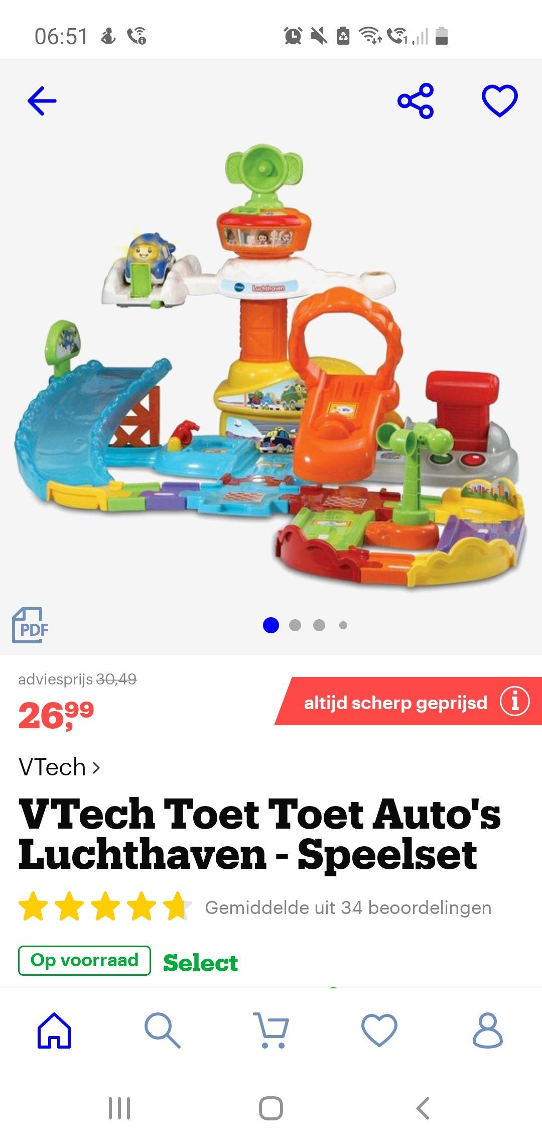 VTech Toet Toet Auto's Luchthaven - Speelset
