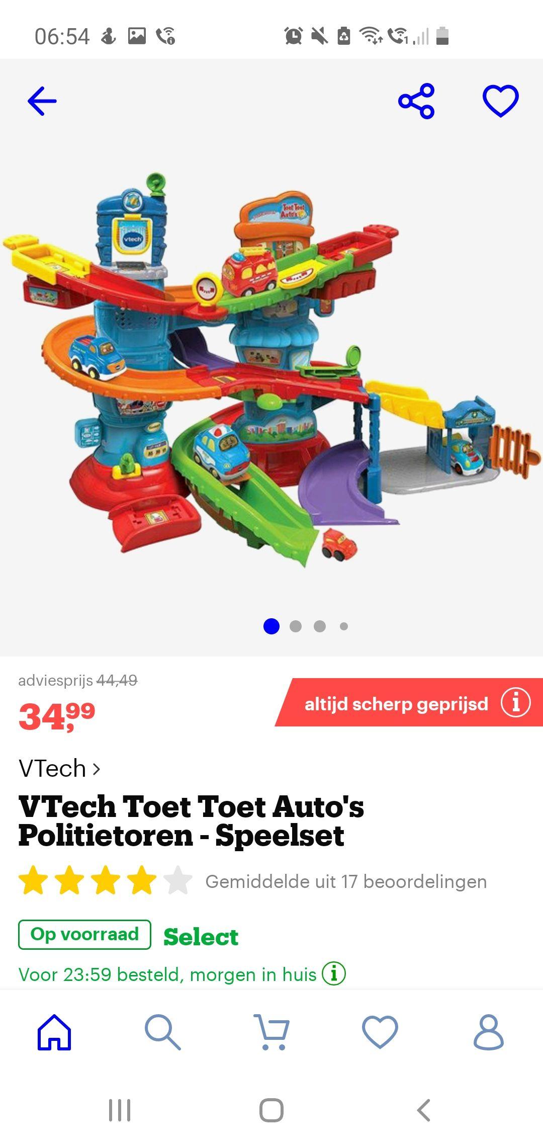 VTech Toet Toet Auto's Politietoren - Speelset