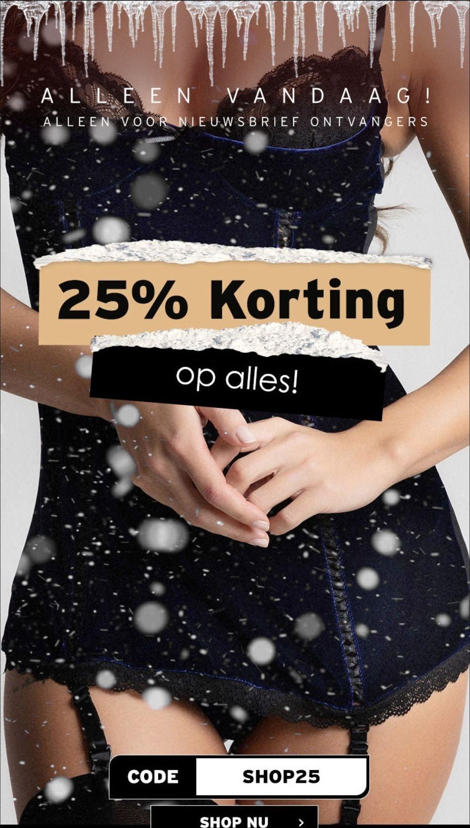 25% korting op alles bij Christine Le Duc met kortingscode SHOP25, alleen vandaag (16-12)!