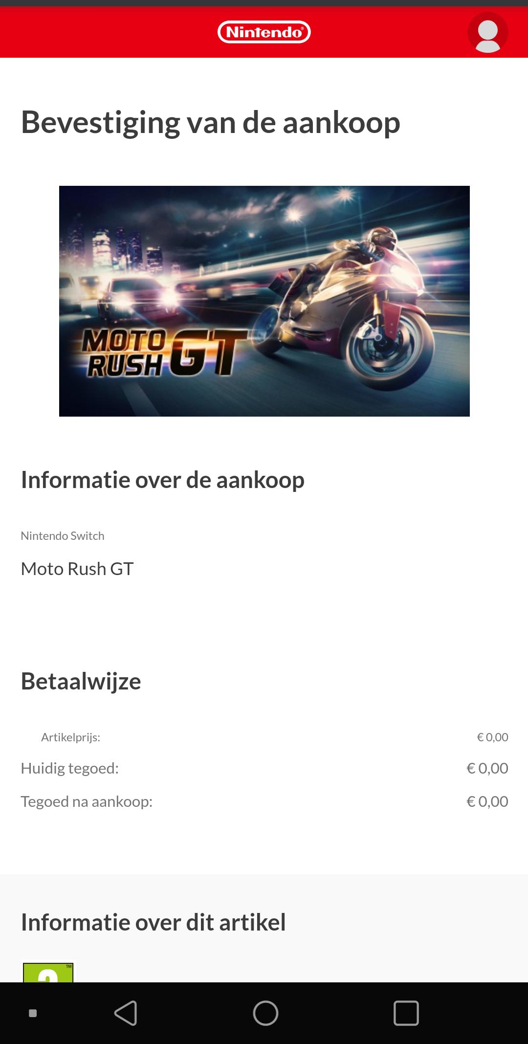Moto Rush GT gratis voor Nintendo Switch op eShop