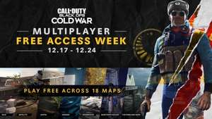 Gratis Multiplayer Week Call of Duty Black Ops Cold War