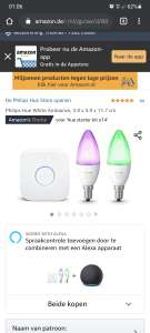 Philips Hue White and Color E14 Starterpack