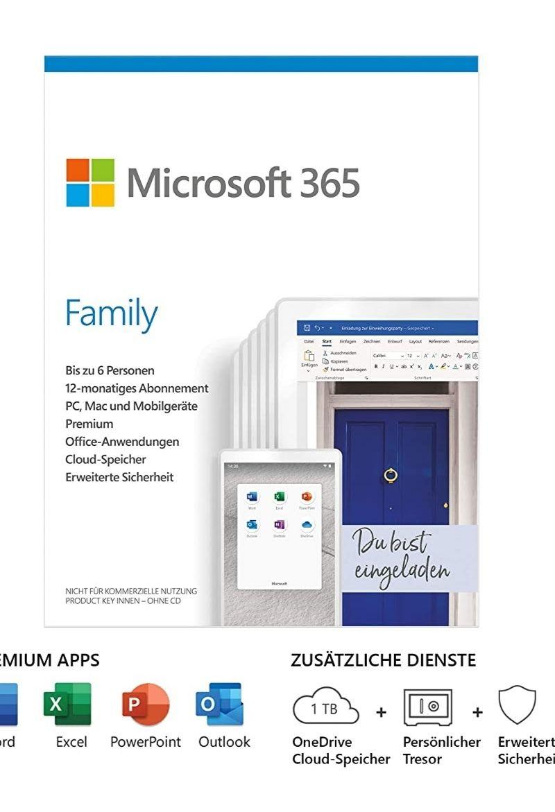 1 jaar Microsoft 365 abonnement @ Amazon.de