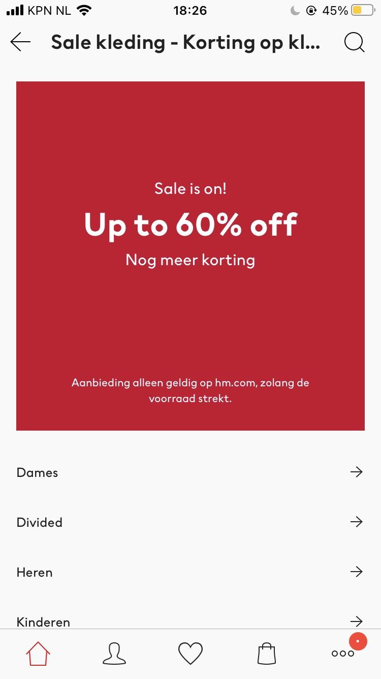 Sale bij H&M nu tot 60% + 10% extra kortingscode