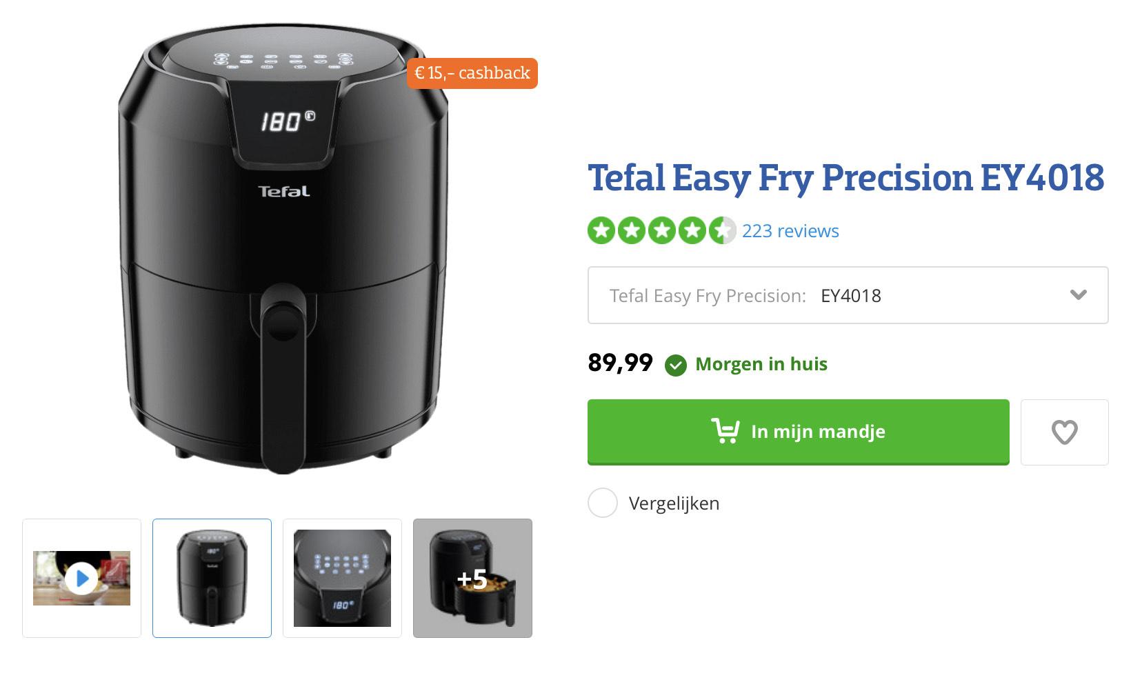 Tefal Easy Fry Precision EY4018 (cashback)
