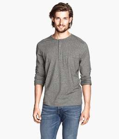 Henley shirts voor €5 + gratis verzending @ H&M