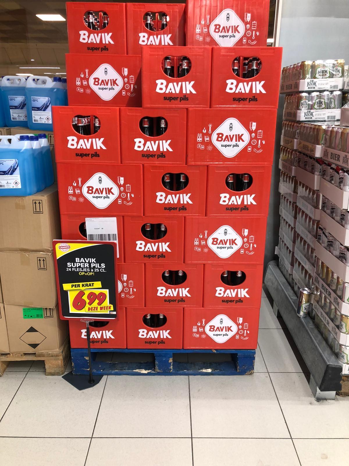 Bavik Super Pils Krat, 24 flessen bier @Nettorama