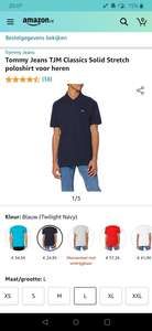 Tommy Jeans TJM Classics Solid Stretch poloshirt voor heren Navy