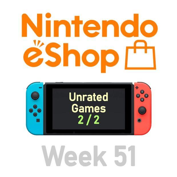 Nintendo Switch eShop aanbiedingen 2020 week 51 (deel 4/4) games zonder Metacritic score (deel 2/2)