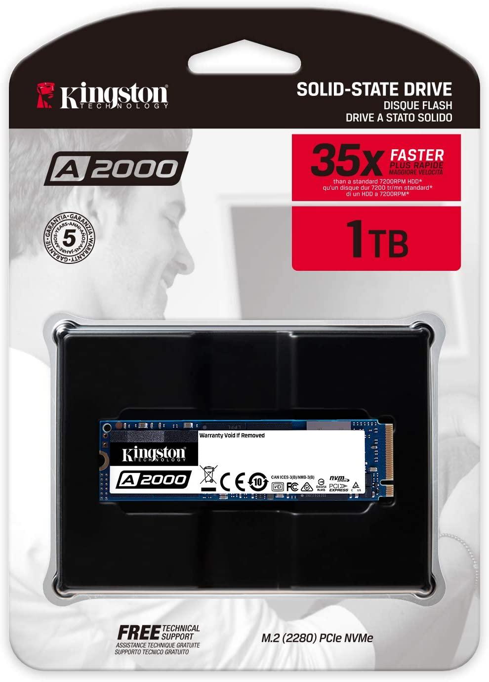 Kingston SA2000M8/1000G A2000 NVMe PCIe M.2 2280 1TB SSD