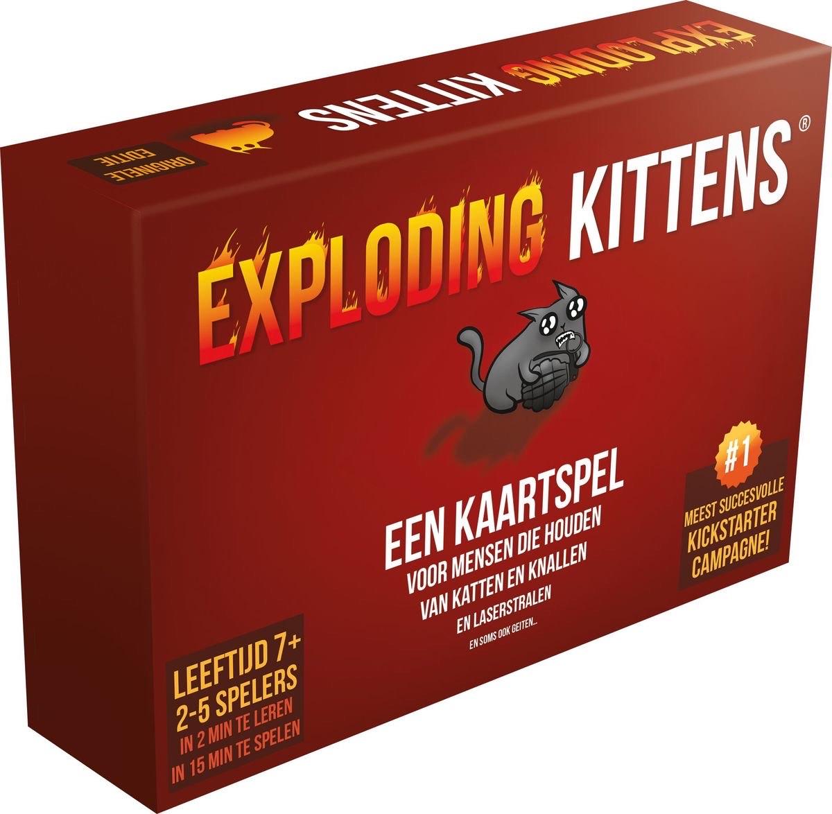 Exploding Kittens Kaartspel NL versie bij Amazon.nl