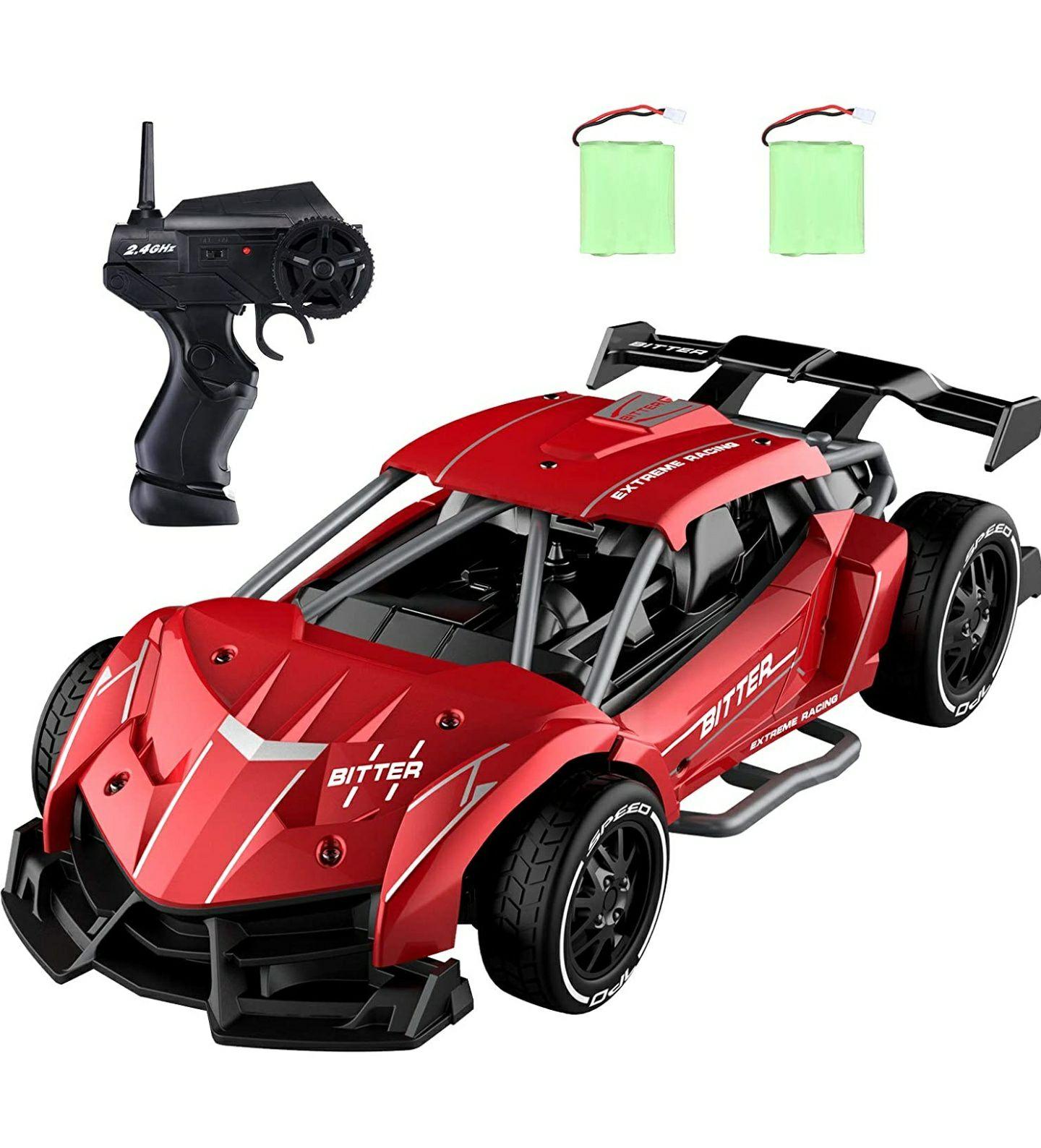 Bestuurbare speelgoedauto [EC05] (grijs of rood) @ Amazon.de