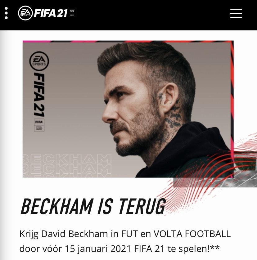 Gra tis Beckham in Fifa21