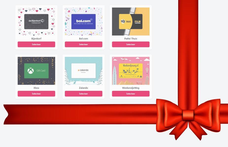 5% korting op alle cadeaukaarten