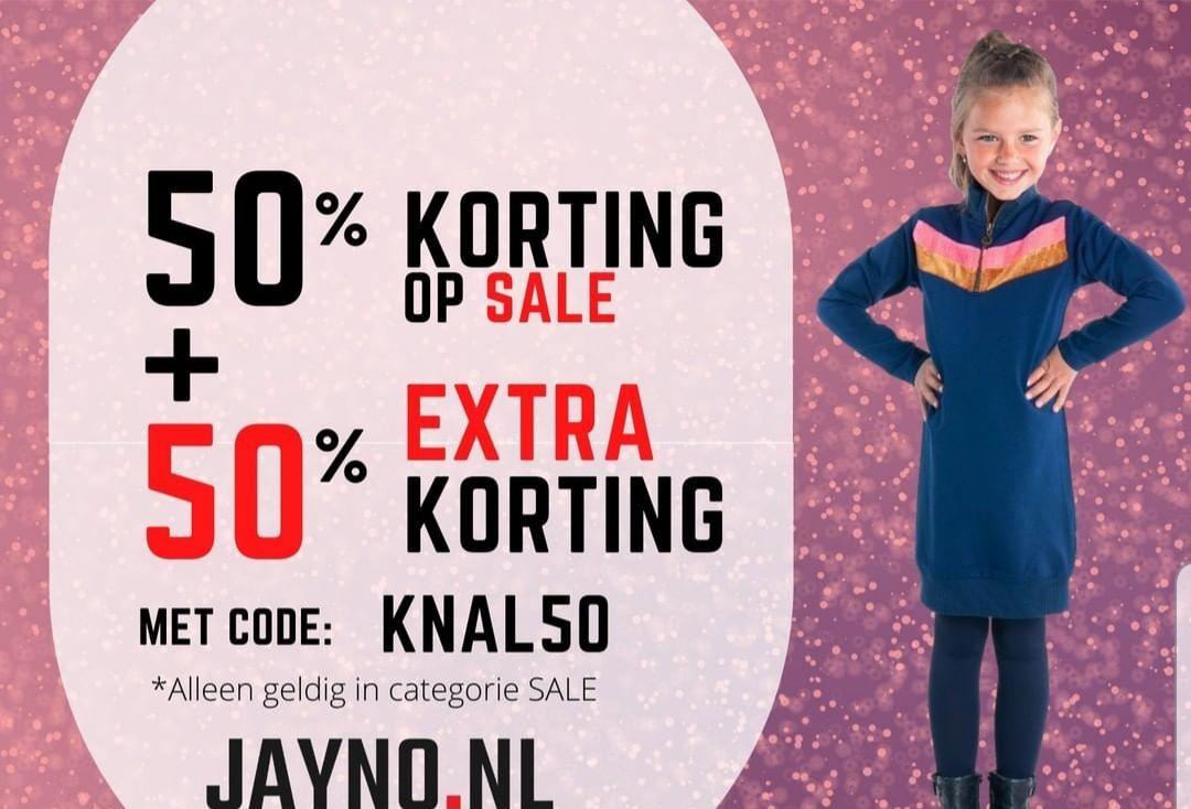 Baby- en kinderkleding 50% extra korting op sale