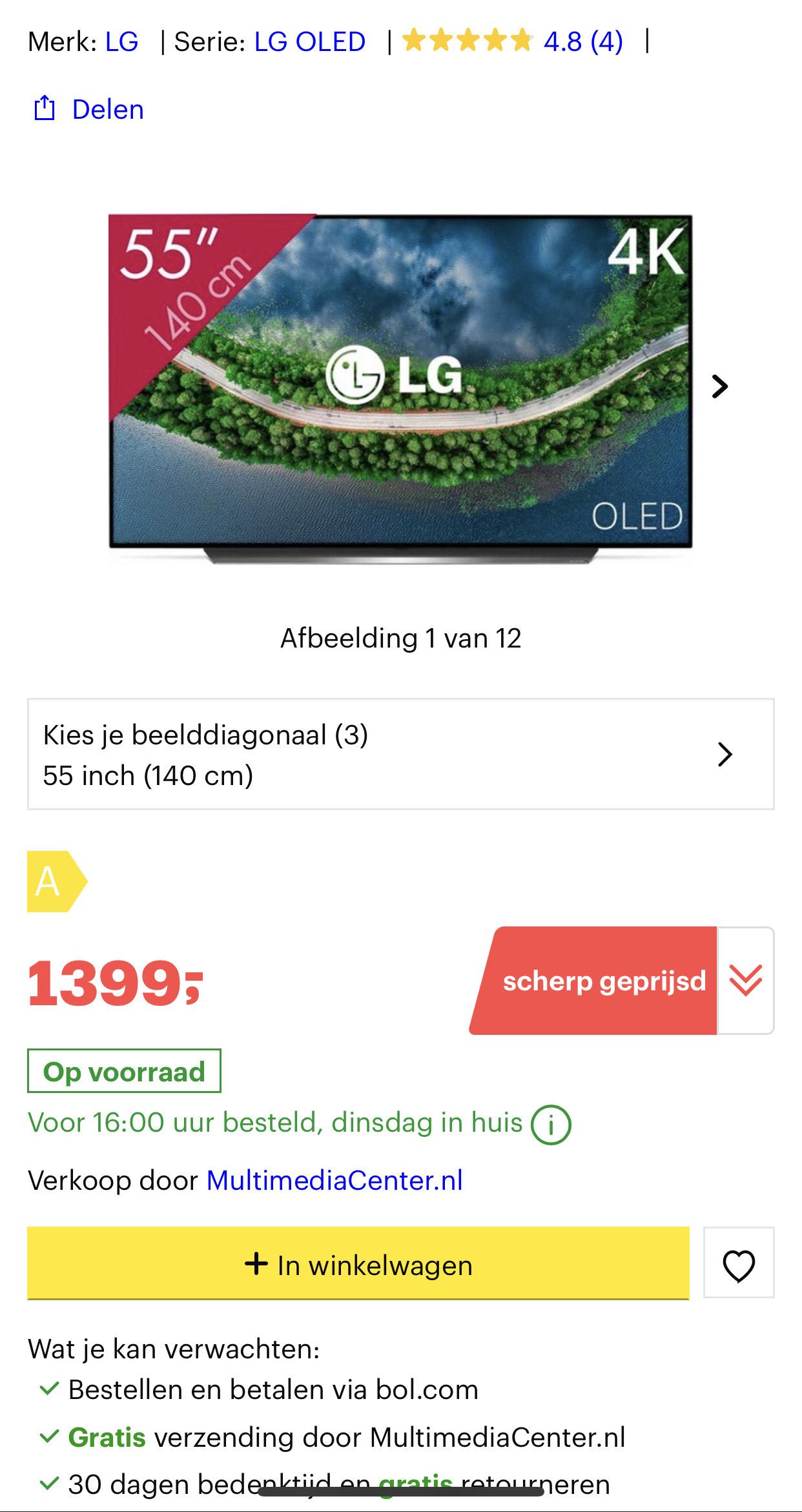 LG OLED55CX6LA bol