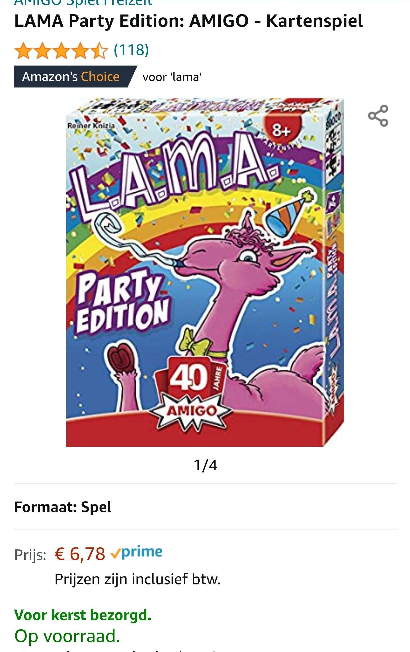 LAMA Party Edition: AMIGO