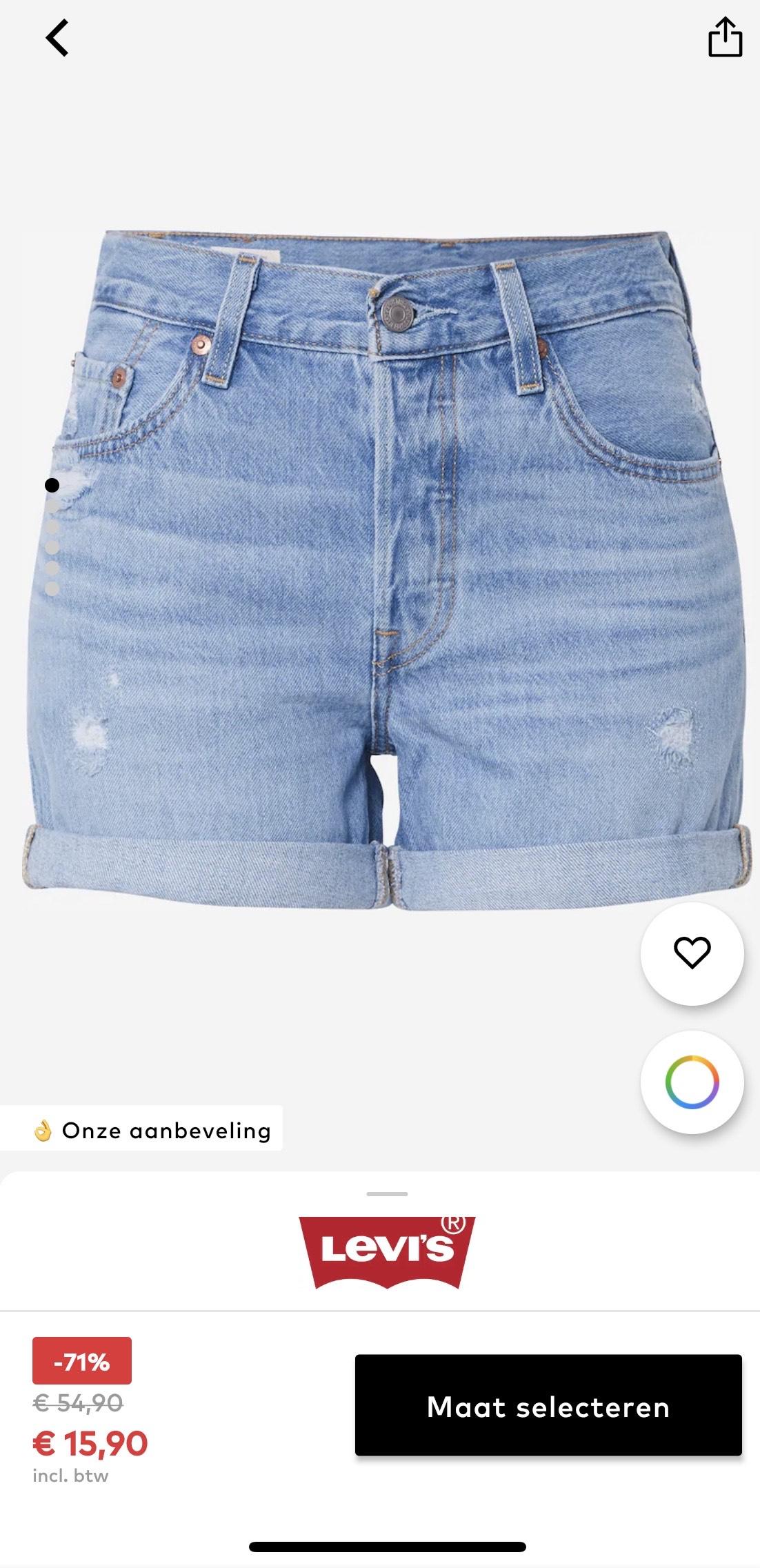 Levi's jeans 501 Short Long